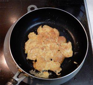 あぶら麩卵焼調理
