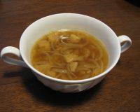 あぶら麩スープ(オニオンスープ)
